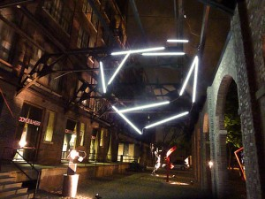 Light sculpture by Monika Wulfers