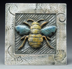 Tile by ceramist Lisa Harris
