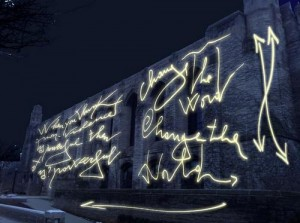 Poetry illumination by Marco Nereo Rotelli
