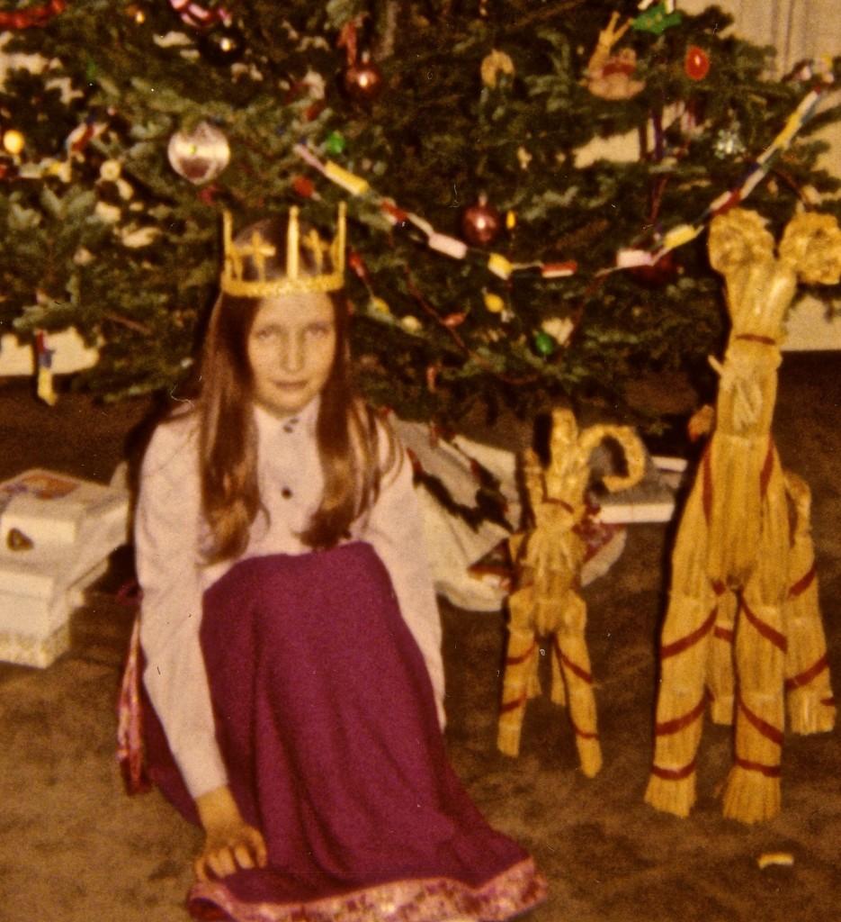 Mary as St. Lucia, circa 1972